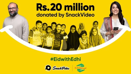SnackVideo-Edhi Ramadan campaign raises 20 million PKR donation