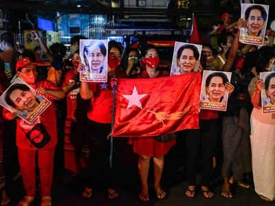 Myanmar junta threatens to dissolve Suu Kyi's party over election fraud