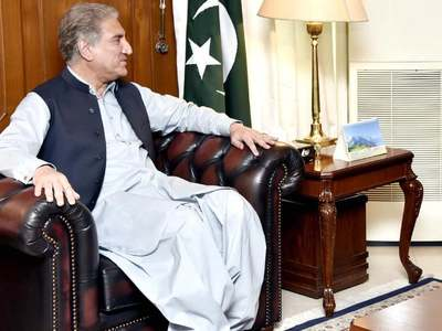 Qureshi arrives on three-day official visit to Iraq