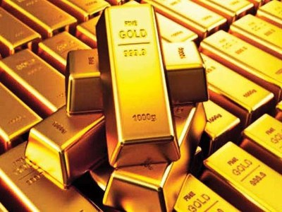 Gold tipped off 5-month peak by upbeat U.S. data, rising yields