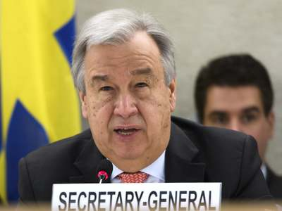 UN chief Guterres sworn in for second term