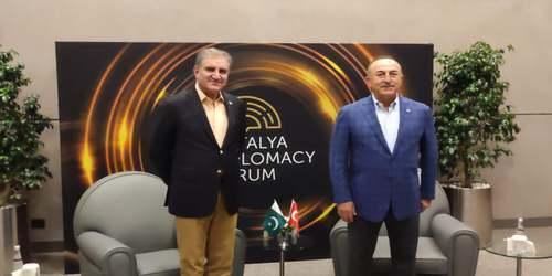 Qureshi, Turkish FM discuss Afghan peace process