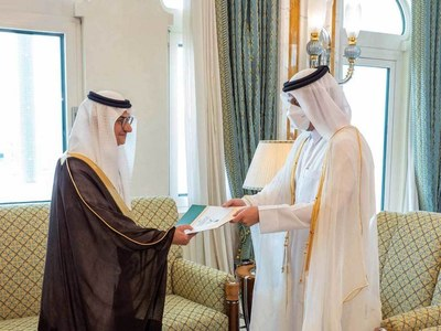 Saudi envoy to Qatar takes up post as rift eases