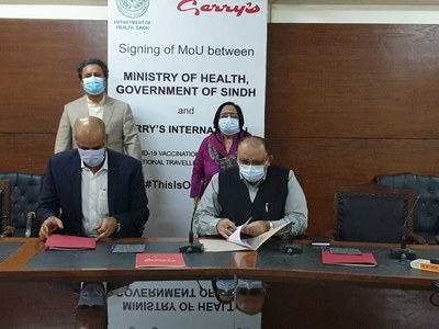 Sindh govt inks agreement with Gerry's Visa Centre to provide Covid vaccine jabs