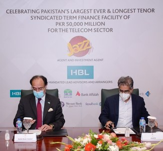 Jazz secures Rs50b credit facility from banking consortium led by HBL