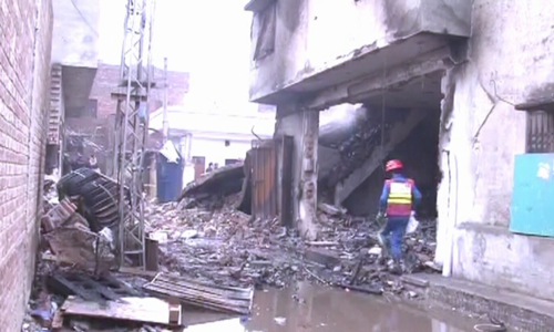Multiple 'gas cylinder' explosions