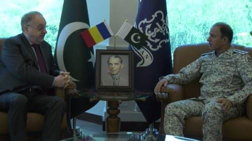 Naval chief, Romanian ambassador discuss regional security
