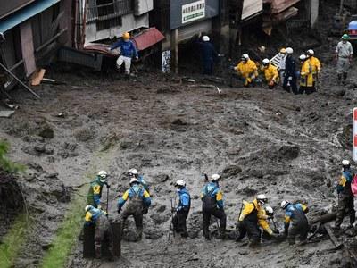 Fears grow for dozens in landslide-hit Japan town