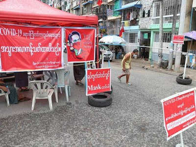Stay-at-home orders in Myanmar's Yangon as Covid cases spike