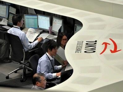 Japanese shares fall as COVID-19 emergency measures stoke slowdown worries