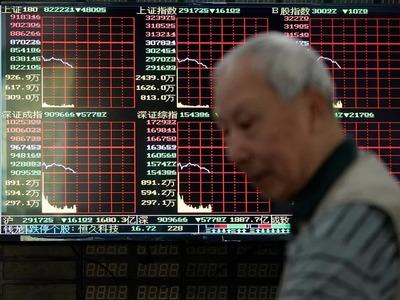 China stocks lower