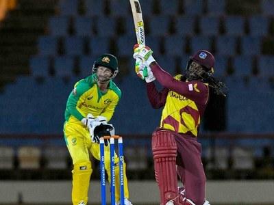 Gayle's half-century powers West Indies past Australia