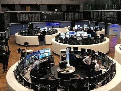 European shares ease