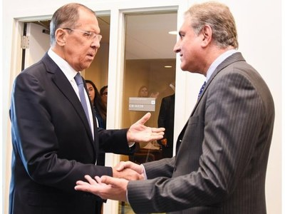 FM Qureshi, Russian counterpart discuss Afghan peace process