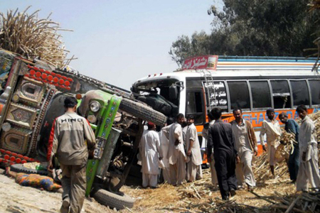 Six killed in Kohat coach-truck collision
