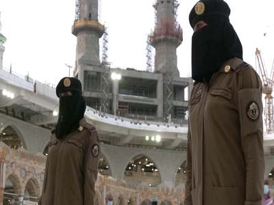 For the first time, Saudi women stand guard in Makkah during Hajj