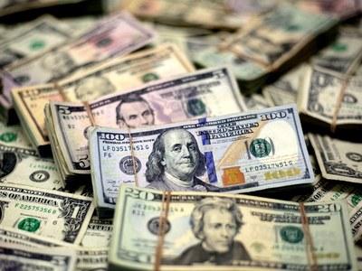 Dollar down again