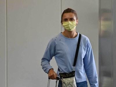 Belarus athlete leaves Japan on Vienna-bound flight