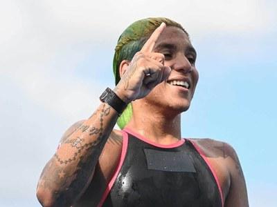 Brazil's Cunha wins Olympic gold in women's marathon swim