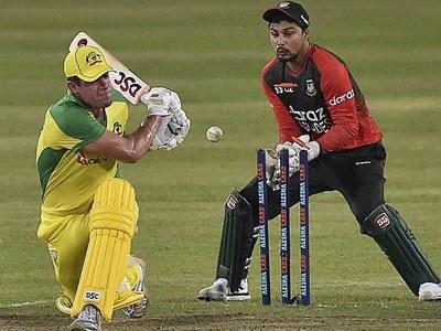 Australia post 121-7 as Mustafizur takes three wickets in 2nd T20