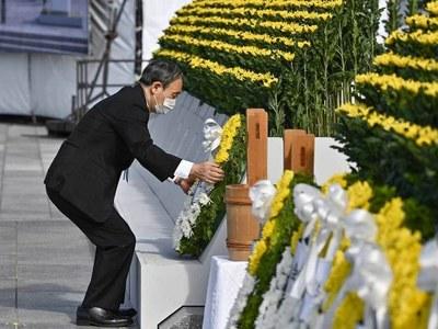 Japan PM Suga apologises for skipping parts of Hiroshima speech