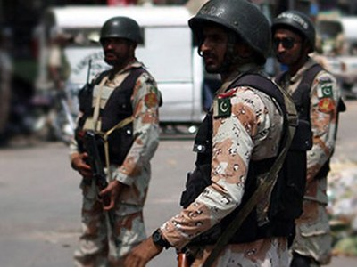 Rangers seize cache of arms in New Karachi