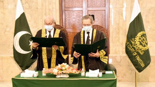 Justice Mandokhail takes oath as SC judge