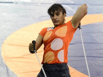 Indian wrestler Phogat suspended for Olympics misconduct