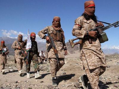 Taliban protest against US air strikes