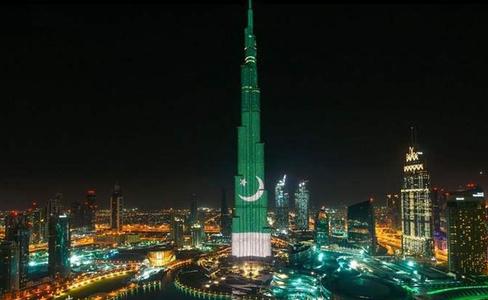 Pakistan Independence Day celebrated at Burj Khalifa