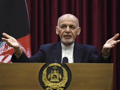 Former Afghan president Ghani says supports Taliban-Karzai talks