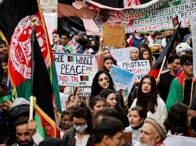 Thousands rally in London decrying Taliban takeover