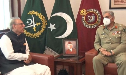 President Alvi acknowledges sacrifices of armed forces in GHQ visit: ISPR