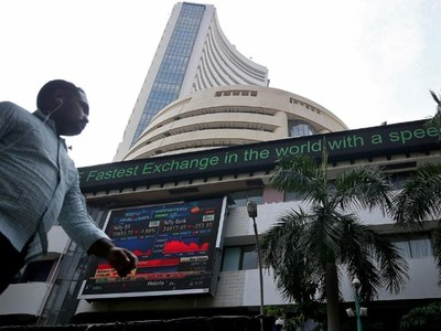 Indian shares hit record highs on financial gains, Q1 GDP jump