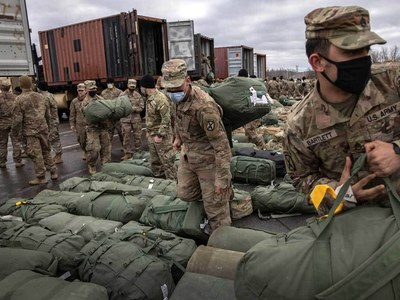 Over 26,000 US, NATO forces' personnel: Around 450 planes land, take off