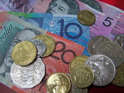 Australia dollar near three-week high