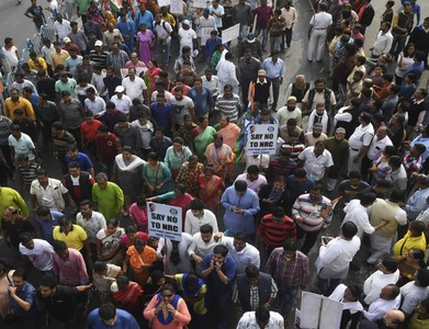 Indian farmers stage protest outside Delhi against farm laws