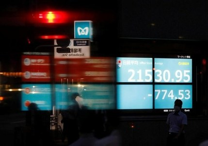 Asian shares fall on growth anxiety, dollar holds gains