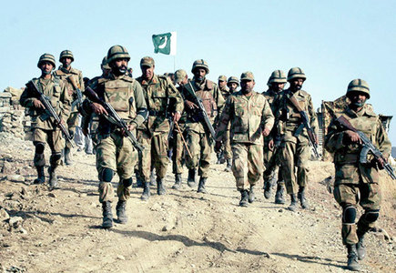 Pakistani troops taking part in peacekeeping exercise in China