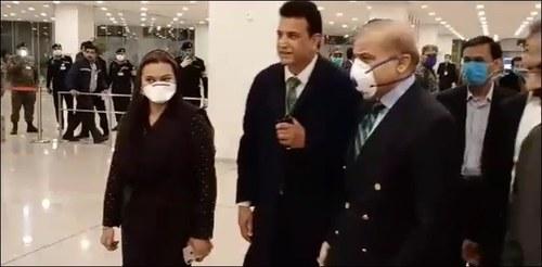 Shehbaz Sharif arrives in Karachi on day-long visit