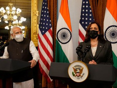VP Harris and Indian Prime Minister Modi meet as US eyes Asia