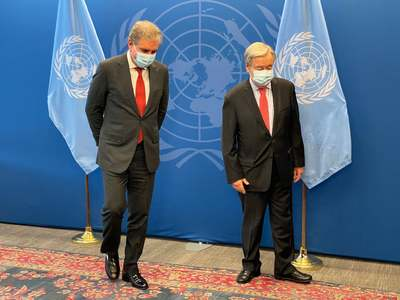 Qureshi briefs UNGA president, UN secretary general about India's human rights violations