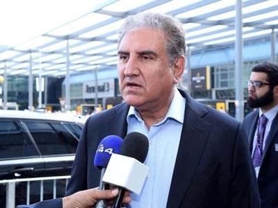 FM Qureshi in UK after concluding New York visit