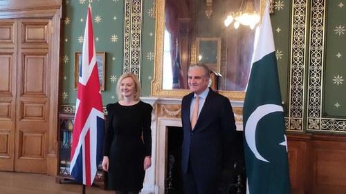 FM Qureshi meets British Foreign Secretary Liz Truss