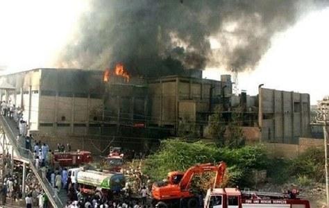 Mehran Town fire: Arrest warrants of Korangi DC, others issued over 'criminal negligence'