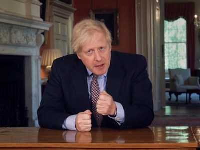Johnson says UK energy production to go 100% green by 2035