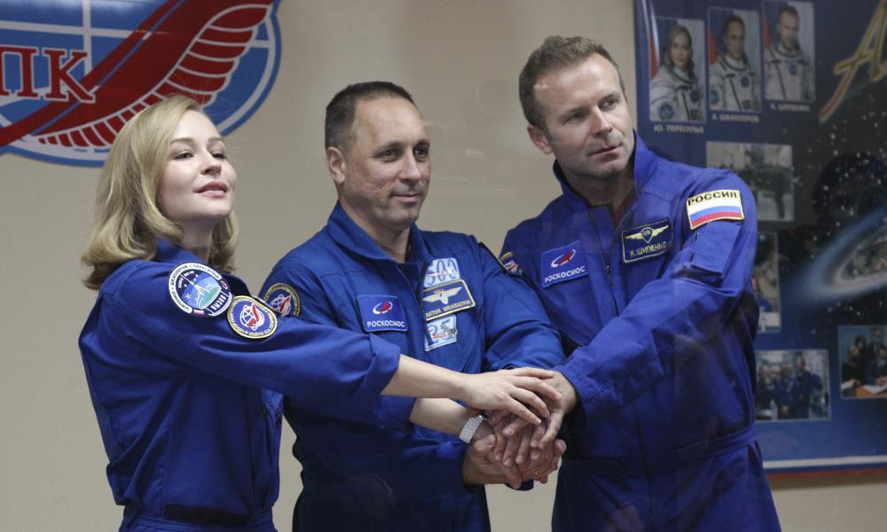 Russian film crew set to blast off to make first movie in space