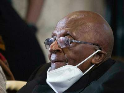 South Africa's 'moral compass' Tutu feted on his 90th birthday
