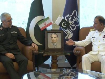 Iranian CGS applauds Pakistan Navy's efforts for regional maritime security