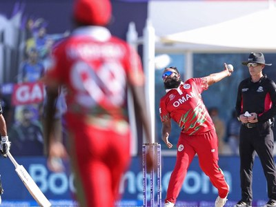 Four for Maqsood as Oman limit Papua New Guinea to 129-9
